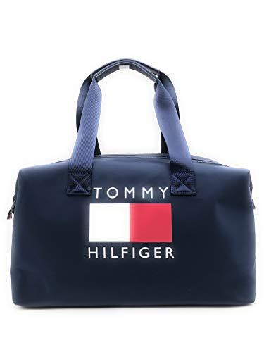 Tommy Hilfiger Tasche - Blau - 50x30x15cm - Große Schultertasche - Sporttasche - Weekender - Dufflebag -TH Signature - 8036