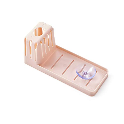 FREELX Sink Caddy with Strong Suction Cups, Storage Holder Sink Over The Sink Dish Drainer, Storage Box Holder Shelf for Kitchen Multifunctional Bathroom Accessories,Pink