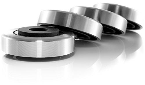 Hifi Lab Alu Füße 45x15 Geräte-Füße Alu Audio Absorber Feet edel Silber 4X