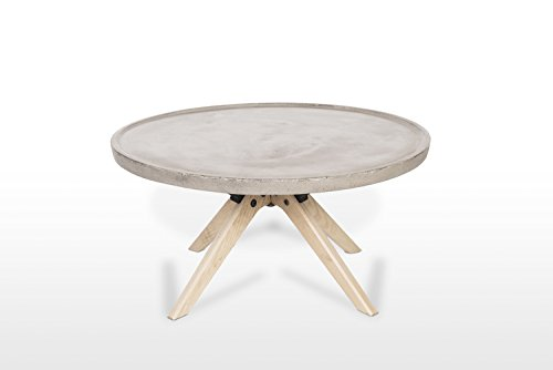 Meubletmoi salontafel van beton en hout decor eiken – Möbel Trend Design Loft – moderne stijl