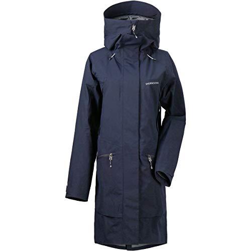 Didriksons W Ilma Parka 3 Blau, Damen Mantel, Größe 44 - Farbe Dark Night Blue