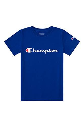 Champion Boys Heritage Short Sleeve Cotton Logo Tee Kids (Heritage Surf The Web, Small)