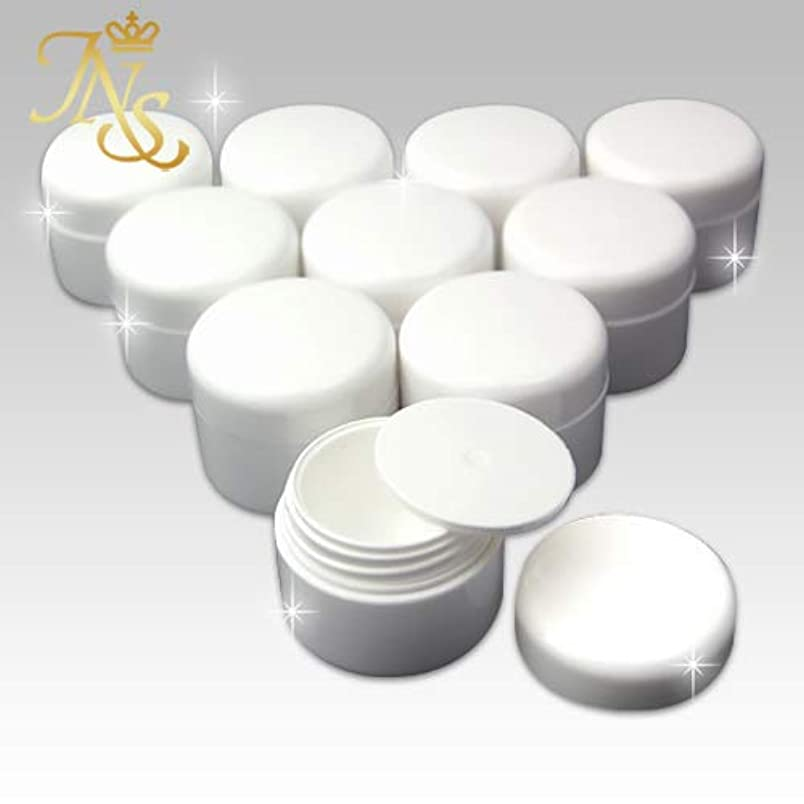 パステル頬骨暖かさジェルネイル コンテナー カラージェルの保管や小物入れに大変便利な、10個セット内蓋付