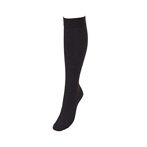 Medias de soporte X-Static de Compressana con fibras antibacterianas, antihongos y antiolor, efecto de apoyo efectivo con aprox. 18 mmHg compresión – para piel y pies sensibles. Negro  I - 36-38