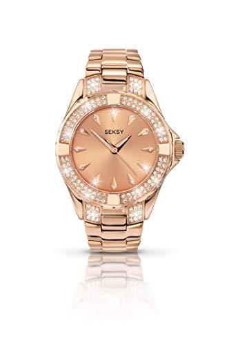 Seksy Intense by Sekonda 4669 - Orologio al quarzo da donna, con bracciale in metallo, colore: oro rosa