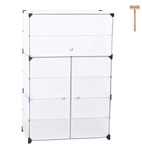 JOISCOPE Portable Shoe Storage Organzier Tower, Modular Cabinet for Space Saving, Ideal Shoe Rack for Shoes, Boots, Slippers (white,3x7-tier)