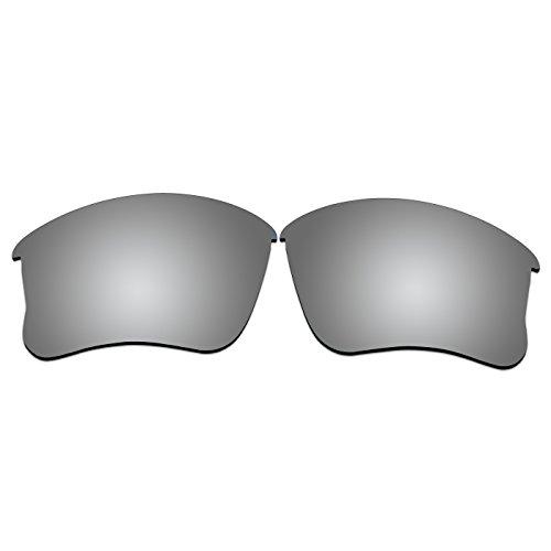 ACOMPATIBLE Lentilles de Remplacement pour Oakley Flak Jacket Xlj, Titanium Mirror - Polarized
