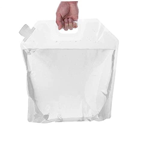 Tuimiyisou Bolso De Agua Plegable Portátil Transparente del Envase del Agua Duradero...