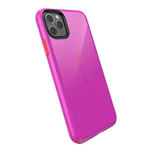 Speck 128845-8581 CandyShell iPhone 11 Pro Max Case, Soda Purple/Dash Pink