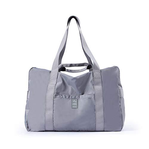 FANDARE Sac de Voyage Pliable de Sport Ultra-Léger Hommes Femmes Tote Travel Duffel Bag Gym Sac à Main de Plage Sac de Rangement Imperméable Polyester Gris Foncé