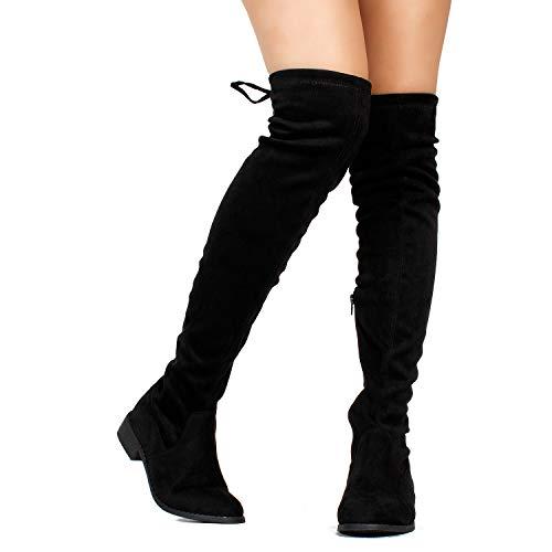 RF ROOM OF FASHION Stretchy Thigh-High Riding Boots
