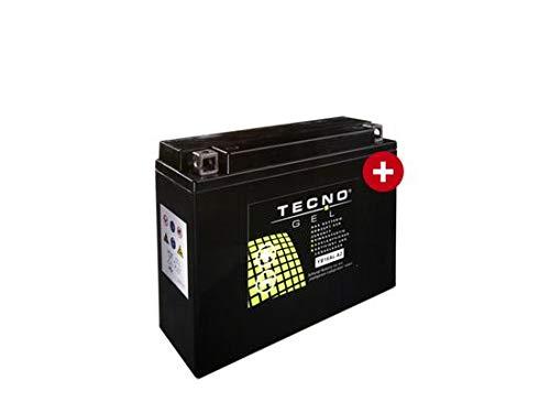 TECNO-GEL Motorrad-Batterie YB16AL-A2 für YAMAHA VMX-12 Vmax alle 1985-2002, 12V Gel-Batterie 16Ah, 205x70x162 mm inkl. Pfand