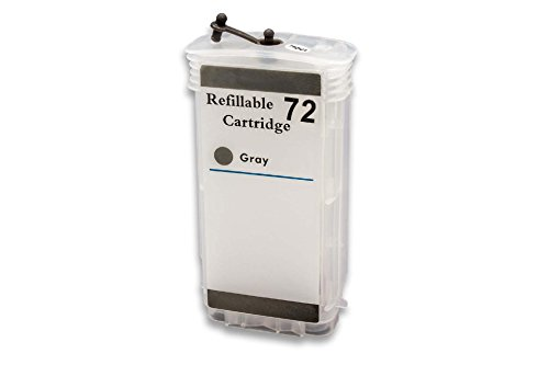vhbw Cartucho de Tinta CISS vacío Gris con Chip para HP DesignJet Z2100, Z3100, Z3200, Z5200, Z5400 como HP 72.