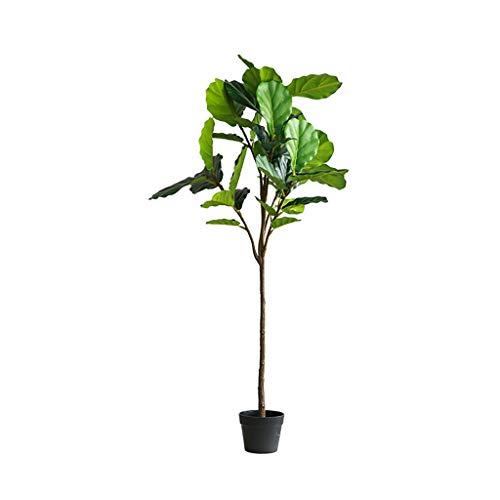 QIFFIY Arbol Artificial Falsos nórdica árbol Ficus Lyrata Hoja Verde Ramas Ficus Lyrata Hoja del árbol Bonsai El Verde Decorativo Árbol Artificial Planta Artificial (tamaño : 140cm A)