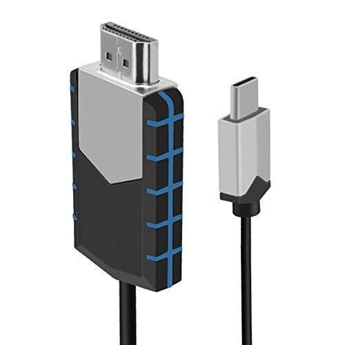 KoelrMsd Adaptador de Cable de TV MHL USB Tipo C a HDMI 1080P HD para teléfonos Android para Cable de Cable de Audio y Video Samsung