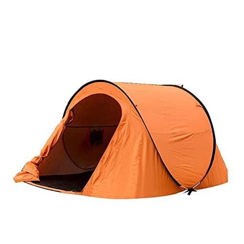 Ankon Easy Pop Up Beach Sun Shelter Tienda 3-4 Persona Playa Tienda Paraguas Instantáneo Sol Shelter Tienda Camping Campaña al Aire Libre (Color : Orange)