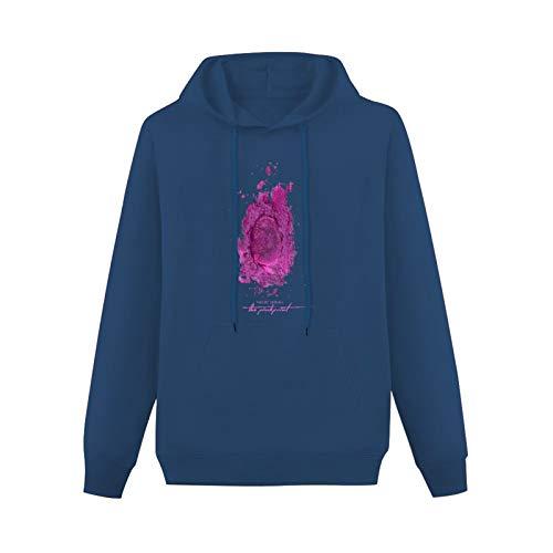 Mens The Pinkprint Nicki Minaj Music Hoodies Long Sleeve Pullover Loose Hoody Sweatershirt Navy 3XL