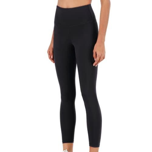 EMPERSTAR Leggings De Levantamiento De Glúteos para Mujeres Pantalones De Yoga De Cintura Alta Leggings Sin Costuras para Gimnasio De Entrenamiento Negro XL