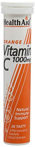 HealthAid Vitamin C Orange Flavour Vegetarian Effervescent 1000mg, 1 x 20 Tablets