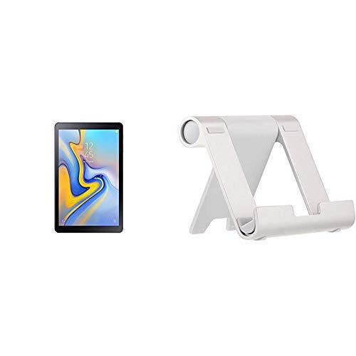 Samsung SM de t590nzka DBT Galaxy Tab a 10.5Wi-Fi–Tablet PC + Amazon Basics - Soporte multiángulo portátil para Tablets, e-Readers y teléfonos - Plateado