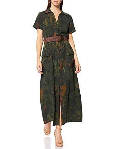 Desigual Womens Vest_Amsterdam Casual Dress, Green, XL