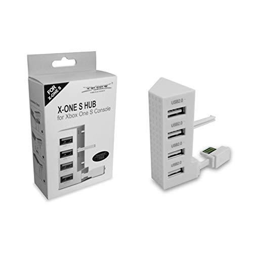 4 poorten USB 2.0 HUB voor Xbox One Slim Console USB-splitteruitbreidingsadapter Wit
