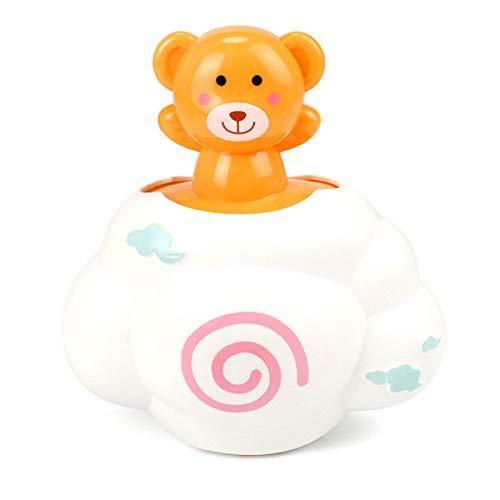 QJJ Juguetes de baño para niños pequeños, Lluvia, Nubes, bebé, bebé, bebé, baño, espinua, Flores, Flores, 0-3 años de Edad Juguetes Divertidos (Color : Orange)