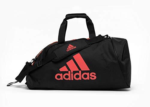 adidas 2in1 Bag Bolsa de Gimnasio, Unisex Adulto, Blanco/Rojo, Small
