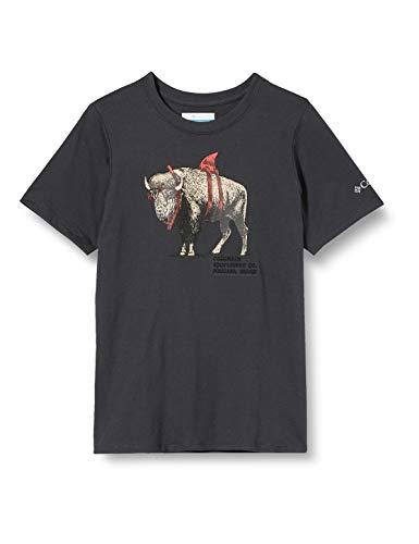 Columbia Peak Point Camiseta Estampada De Manga Corta, Unisex Niños, Negro (Shark Sharkalo), XXS