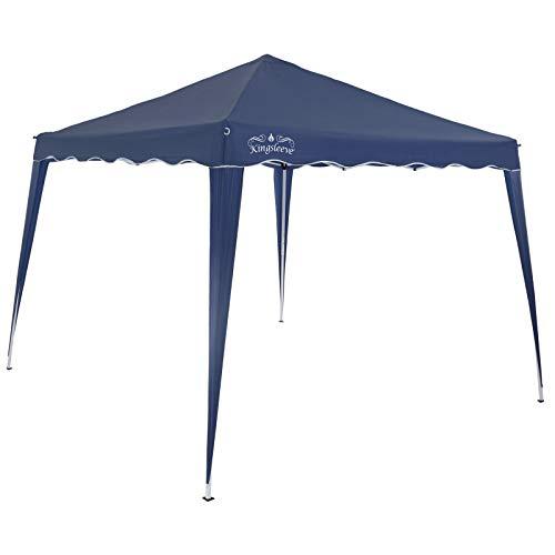 Deuba Gazebo da Giardino 3x3m Capri Impermeabile Pop up Richiudibile A Fisarmonica Protezione UV50 Feste Spiaggia Campeggio Blu