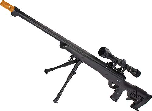 Evike Airsoft - Matrix VSR10 MB-11 Airsoft Realistic Cycling Action Sniper Rifle by Well (with Scope & Bipod)