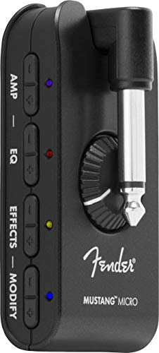 Fender ギター&ベース用ヘッドフォンアンプ MUSTANG™ MICRO ブラック