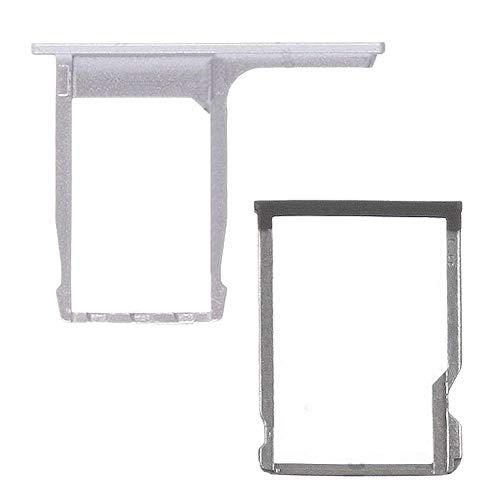 jbTec® SD-Card/SIM-Tray/Halter passend für HTC One M8 - Silber - Slot Karte Schlitten Rahmen Holder Handy Card Ersatz Fach
