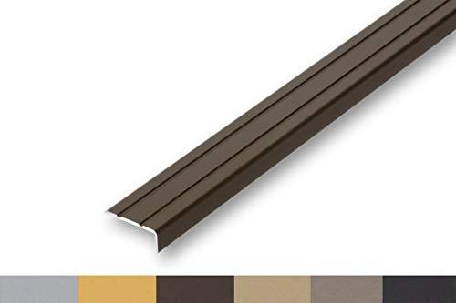 (5,59€/m) Treppenwinkel 10 x 25 x 900 mm bronze selbstklebend Treppen-Kantenprofil Stufen-Profil Alu-Winkel-Profil Kantenschutzwinkel Profilwinkel Treppe (900 mm selbstklebend, bronze)