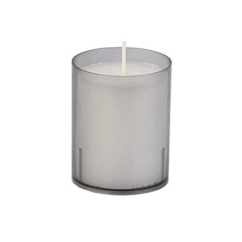 Sovie Refill Kerzen 24 graue Teelichter mit extra Langer Brenndauer (24h) für Feiern/Party/Gastronomie