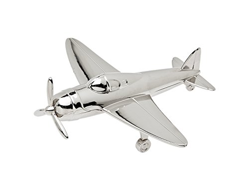 GODINGER SILVER ART Airplane Paper Weight, Silver