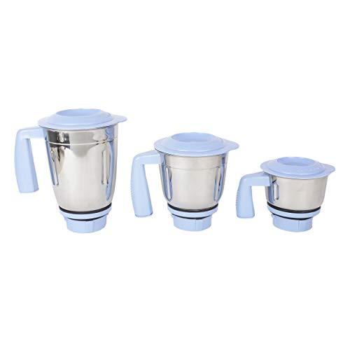 Kenstar Slender-7 750-Watt Mixer Grinder (White and Blue)