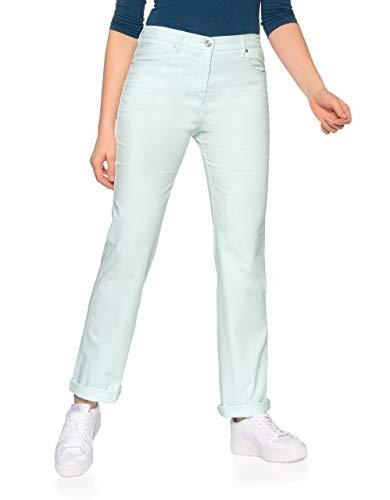 Bexleys Woman by Adler Mode Damen Jeans Bianca in Sommerfarben Mint 38