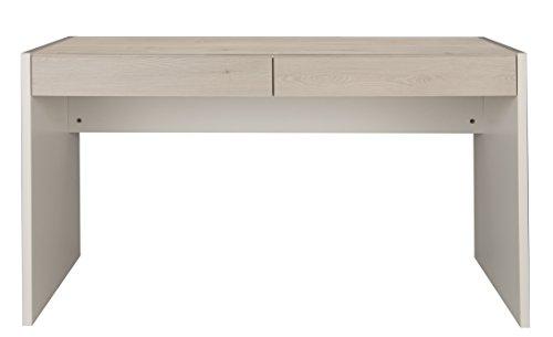 GAMI Bureau 2 tiroirs, Pin, 60 x 135 x 75 cm