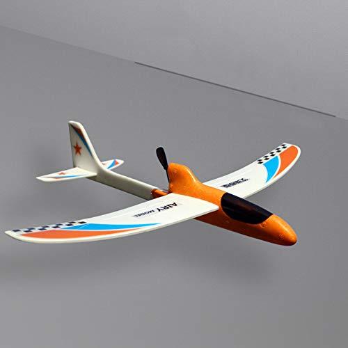 Schaumstoff-Flugzeug-Spielzeug, Kondensator-Gleiter, Handstartflugzeug, Modell-Spielzeug für Kinder, DIY-Geschenk (orange)