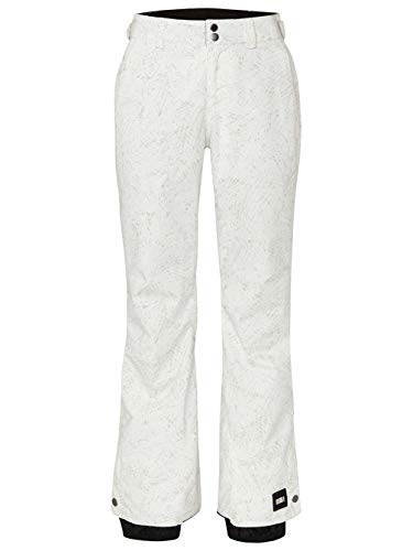 O'Neill dames skibroek PW Glamour Pants-1960 White AOP W/Green-S, Pink Black, S