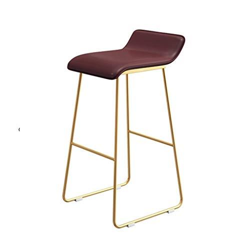Decoratieve stool restaurant eettafelstoel, huishouden slaapkamer meerdere hoogtes dressing kruk cafe PU-stoel gemakkelijk te reinigen lounge chair, 65-75 cm