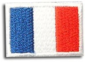 フランス 国旗 アイロン ワッペン ミニ 約33x24mm