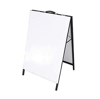 FixtureDisplays Metal A-Frame Board Menu Board White Dry and Wet Erase Sidewalk Sign 1134