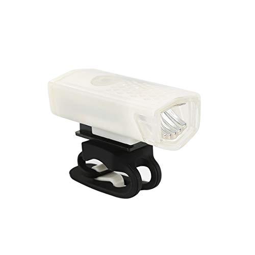 NOLOGO Yg-ct Fahrrad-Licht-USB aufladbare 300 Lumen Fahrradlampe Frontscheinwerfer Taschenlampen-Fahrrad-Licht-Fahrrad-Zubehör (Farbe : Weiß)