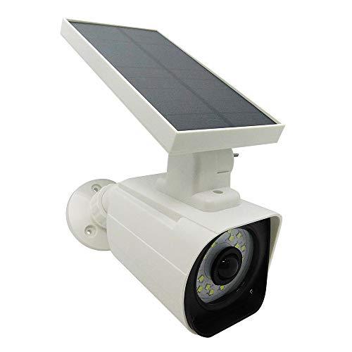 ダミーカメラ センサーライト 屋外 ソーラーライト 防犯カメラ型 IP66防水 太陽光充電 配線電源不要 角度調節可能 壁掛け庭先 玄関周りなど対応