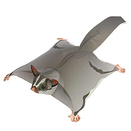 BOIZAN 3D Papel Animal Planeador Volador Ardilla Modelo de Papel Origami Arte Realista Animal Mini Lindo Plegable Modelo de Papel 3D DIY Niños Adulto Artesanía Juguetes