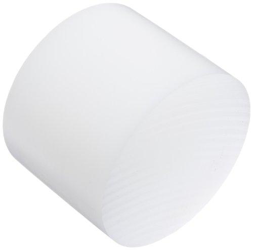 """UHMW (Ultra High Molecular Weight Polyethylene) Disc, Opaque White, Meets ASTM D4020, 4"""" Diameter, 3"""" Length"""