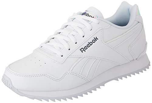 Reebok Damen Royal Glide Ripple Clip Sneaker, White/Cold Grey/White, 40 EU