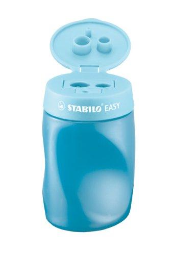 Stabilo 4501/2 Ergonomic Pencil Sharpener Easy Sharpener, Blue, L, Pack of 3